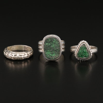Sterling Rings Featuring Druzy