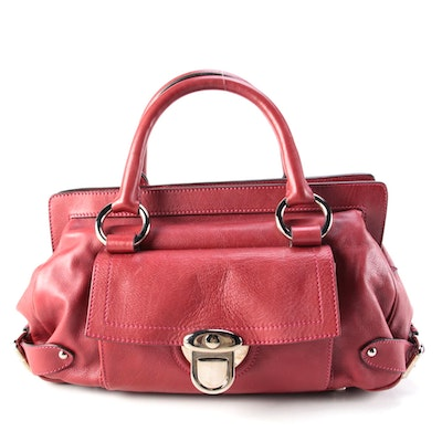 Marc Jacobs Red Leather Satchel