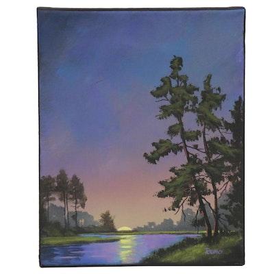 "Douglas Johnpeer Oil Painting ""Half Gone,"" 2020"