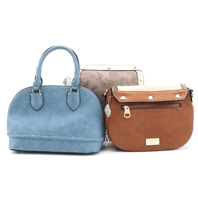 Coco + Carmen Girlfriend Bag with Flap Options and Coronet Dome Satchel