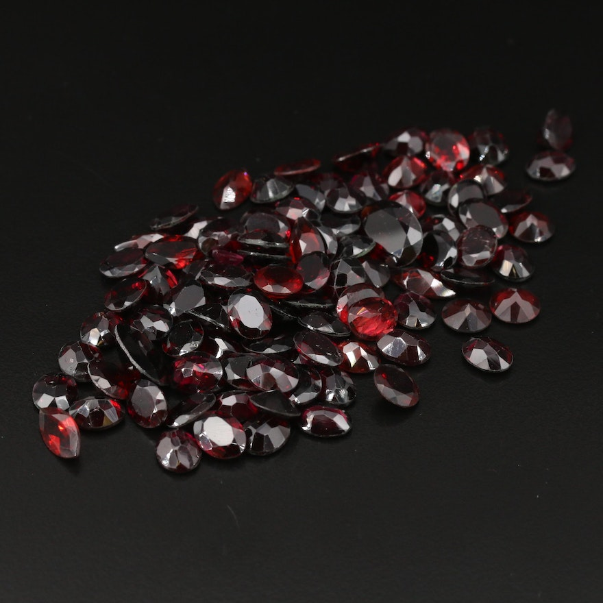 Loose 206.87 CTW Mixed Faceted Garnets