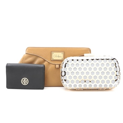 Cole Haan Leather Clutch, Inge Christopher Clutch Purse, and Tory Burch Wallet