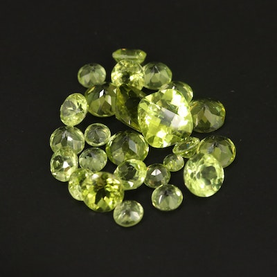Loose 15.94 CTW Faceted Peridots
