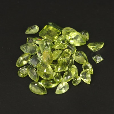 Loose 25.42 CTW Faceted Peridots