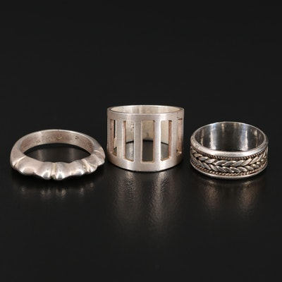 Sterling Silver Rings Featuring Openwork Detail