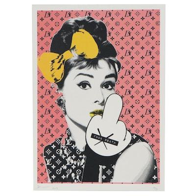 Death NYC Pop Art Graphic Print of Audrey Hepburn, 2017