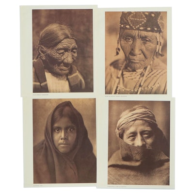 Offset Lithographs after Edward Curtis Portraits, 20th Century