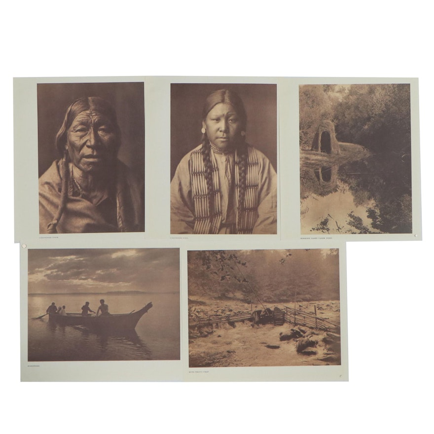 Offset Lithographs after Edward Curtist of Native American Portraits