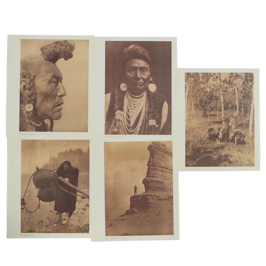 Offset Lithographs after Edward Curtis of Native American Portraits