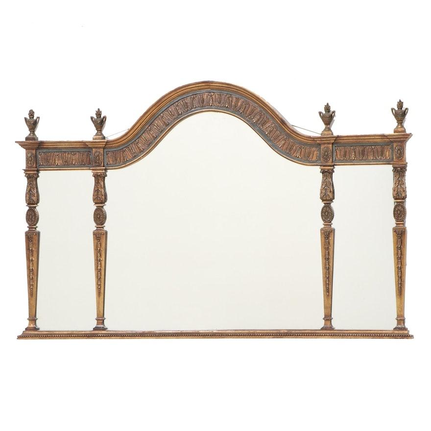 George III Style Giltwood Overmantel Mirror, Manner of Robert Adam