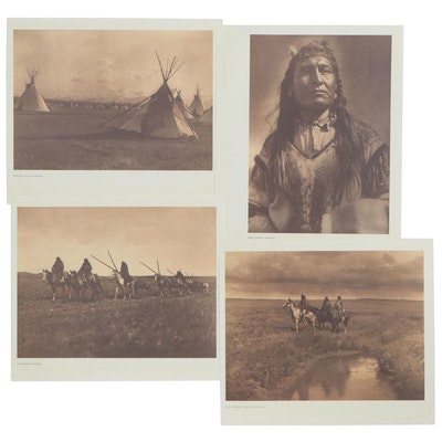 Offset Lithographs after Edward Curtis of Portraits and Landscapes