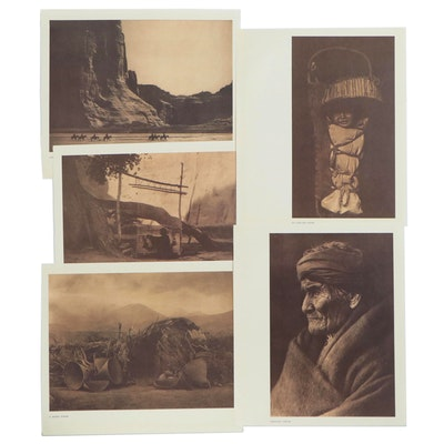 Offset Lithograph after Edward Curtis of Native American Portraits