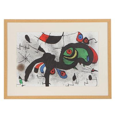 "Joan Miró Lithograph ""Le Bélier Fleuri,"" 1971"