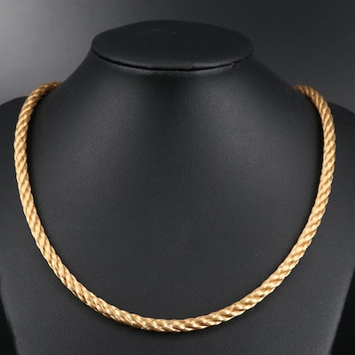 18K Braided Chain Necklace