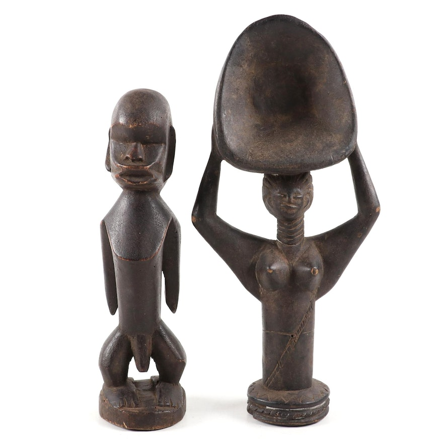Central African Figure and West African Figural Scoop