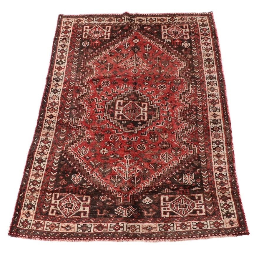 5'6 x 8'0 Hand-Knotted Persian Abadeh Wool Area Rug
