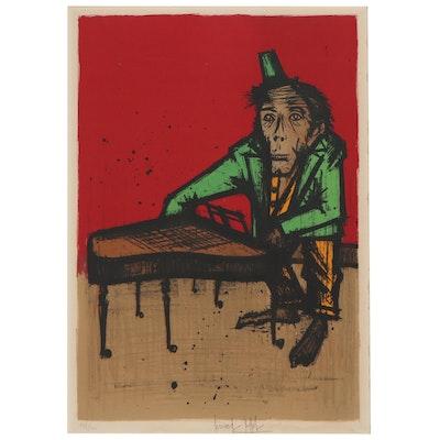 """Bernard Buffet Lithograph """"Monkey Pianist,"""" 1968"""