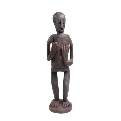 Tanzanian Style Hand-Carved Wooden Figure, East Africa