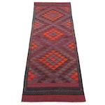 4'9 x 12'5 Handwoven Afghan Kilim Long Rug