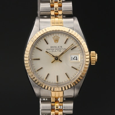 1983 Rolex Date 18K Yellow Gold and Stainless Steel Automatic Wristwatch