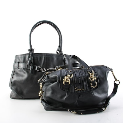 Coach Ashley and Hampton's Black Leather Carryall Tote and Two-Way Bags