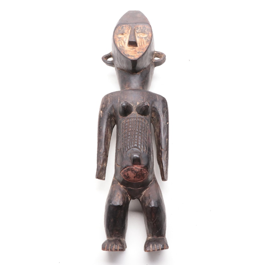 Boa Style Carved Wood Figure, Democratic Republic of Congo