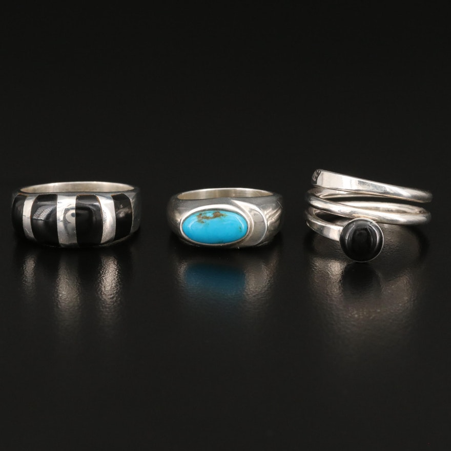 Selected Mexican Sterling Silver Rings