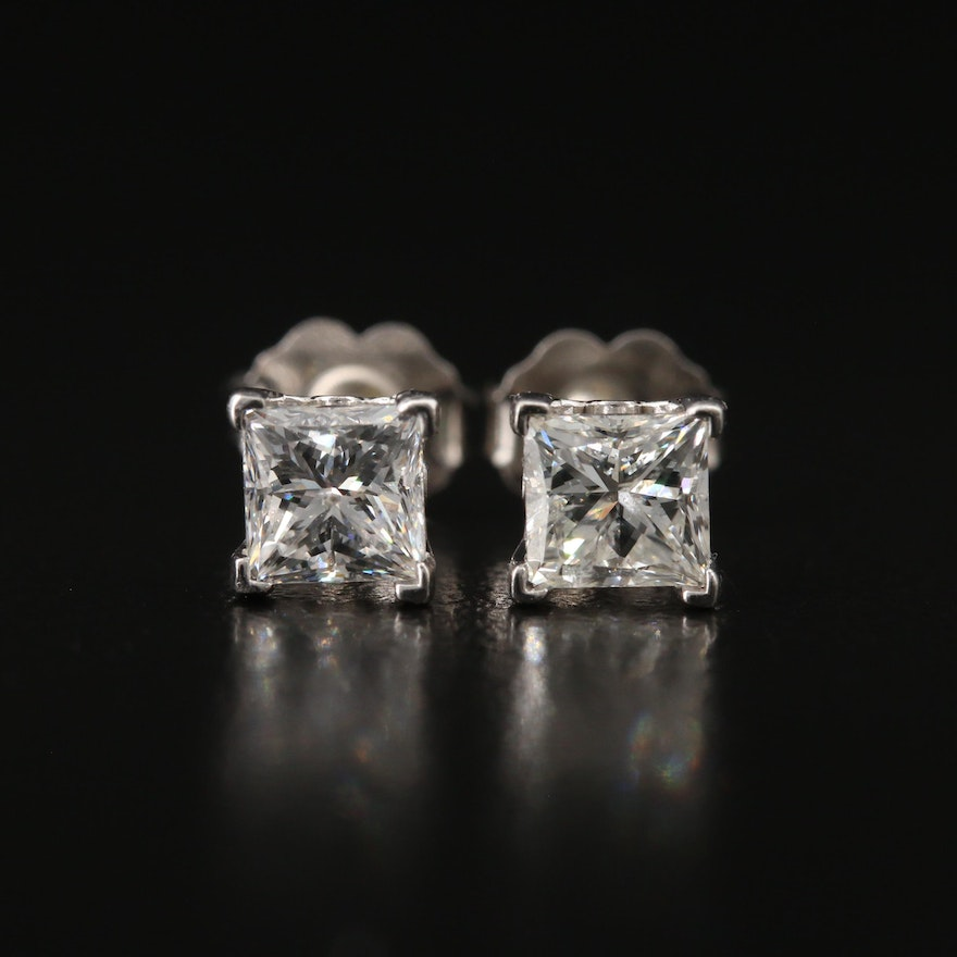 14K 1.14 CTW Diamond Stud Earrings