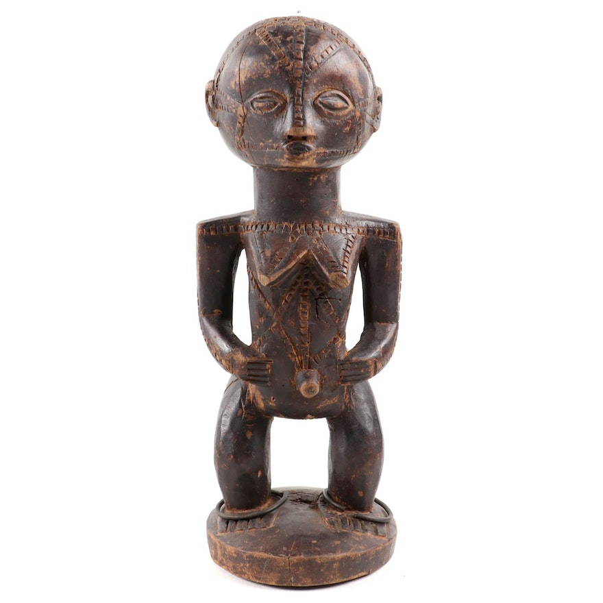 Tabwa Style Wood Figure, Central Africa