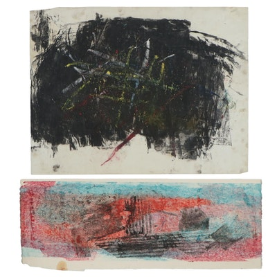 Oscar Murillo Abstract Acrylic Paintings