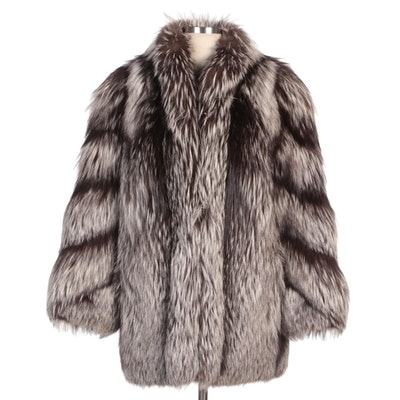 Silver Fox Fur Coat from Svend Furs