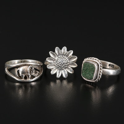 Sterling Silver Rings Including Druzy