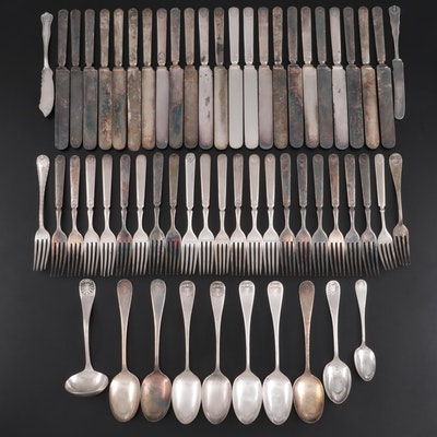 Rogers Bros. and Other American Shell Handle Silver Plate Flatware
