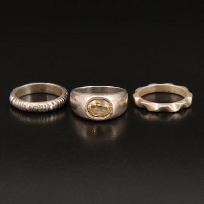 Sterling Rings Including Citrine