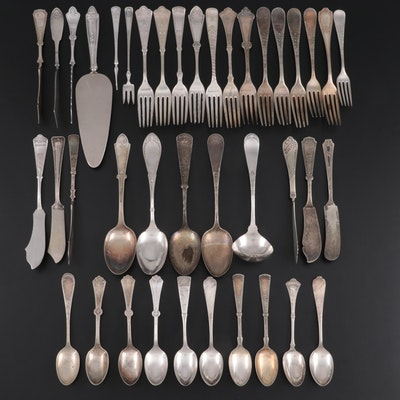 Rogers Bros and Other Sterling and Silver Plate Flatware, and Serving Utensils