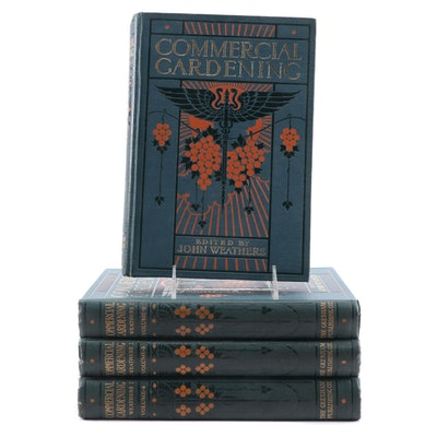 """Commercial Gardening"" Four-Volume Set Edited by John Weathers, 1913"