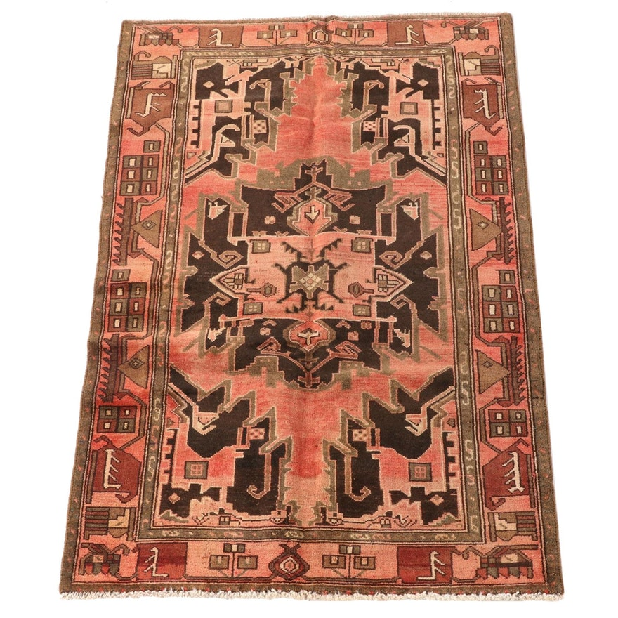 4'0 x 6'4 Hand-Knotted Persian Kolyai Wool Area Rug