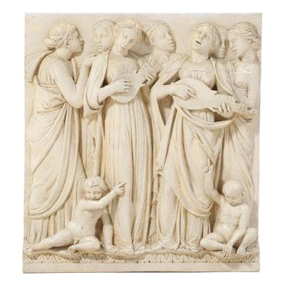 "Caproni High Relief Plaster Panel after Luca della Robbia ""Cantoria"""