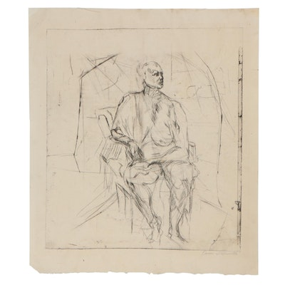 Oscar Murillo Figural Etching, 20th Century