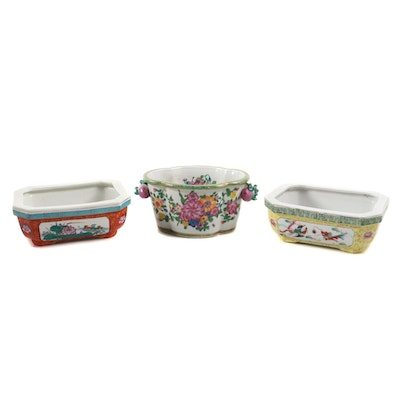 Chinese Dayazhai Style Famille Rose Ceramic Planters
