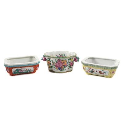 Chinese Dayazhai Style Famille Rose Ceramic Planters