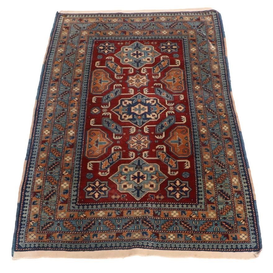 3'3 x 4'10 Hand-Knotted Caucasian Kazak Accent Rug