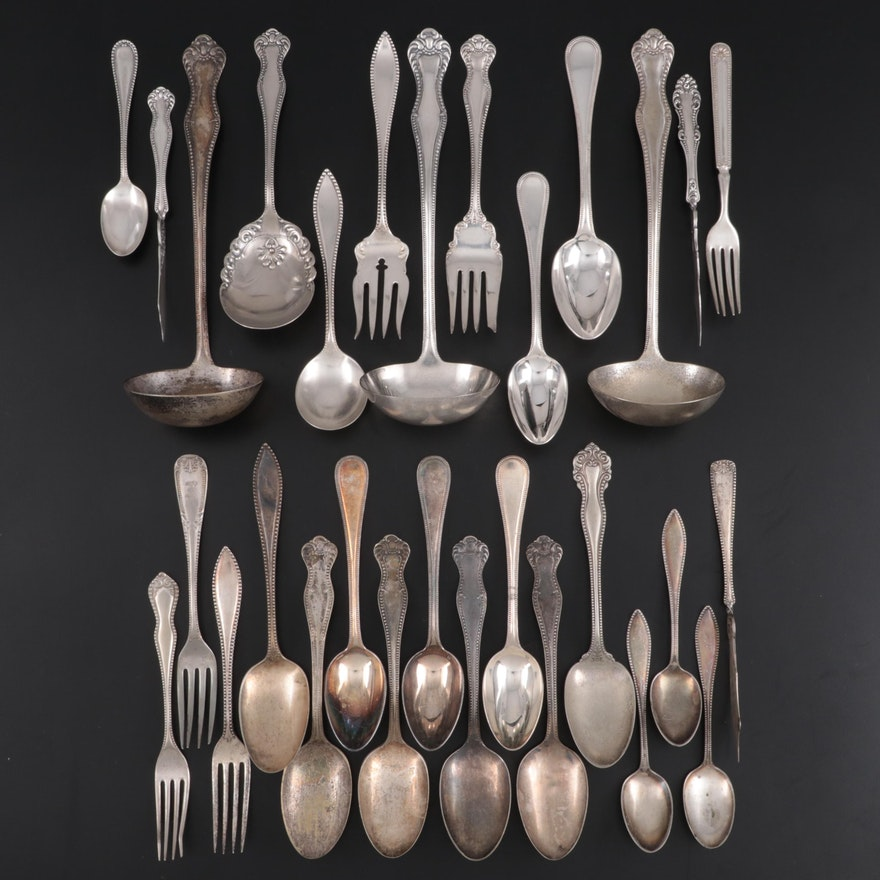 Wallace, Rogers, and Other Silver Plate Flatware and Serving Utensils
