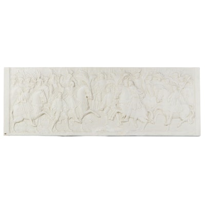 """Caproni Plaster Bas Relief after """"Field of the Cloth of Gold Meeting"""""""