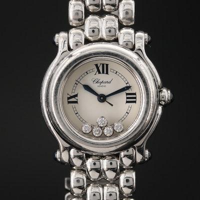 Chopard Happy Sport Diamond and Stainless Steel Wristwatch