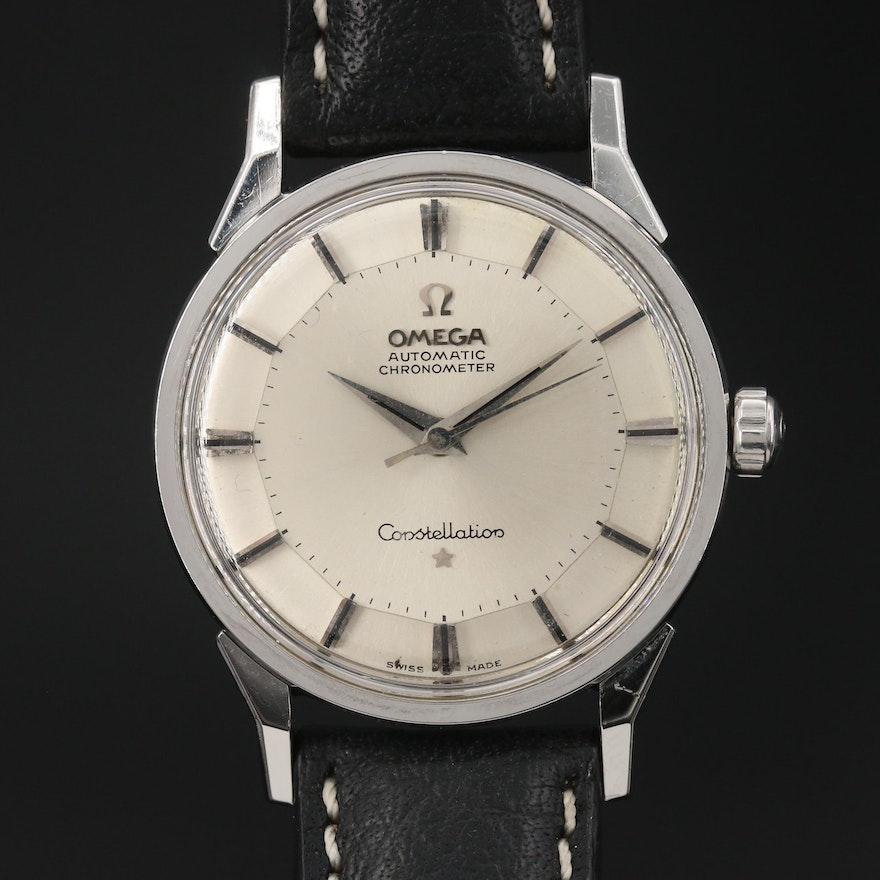 "1962 Omega ""Constellation"" Stainless Steel Automatic Wristwatch"