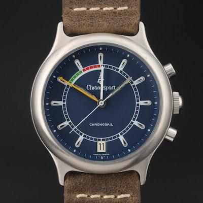 Chronosport Chronosail Regatta Timer Stainless Steel Stem Wind Wristwatch