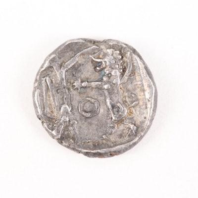 Ancient Phoenicia, Sidon AR 1/16 Shekel, ca. 401 B.C.