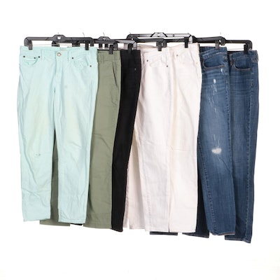 J. Crew Jeans and Chinos with Abercrombie & Fitch White Jeans