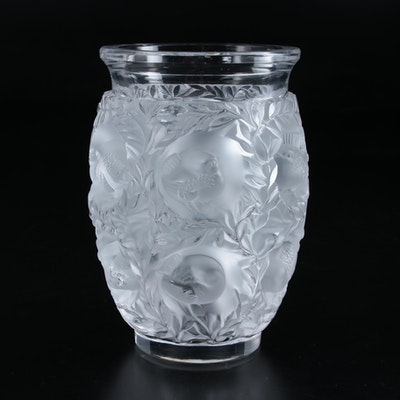 "Lalique ""Bagatelle"" Frosted and Clear Crystal Vase"